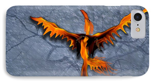 Dance Of The Pheonix IPhone Case by Cheri Doyle