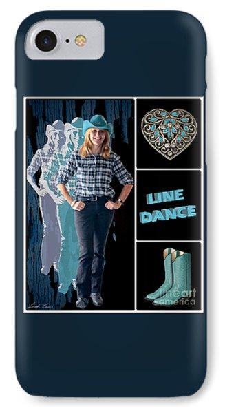 Dance Series - Line Dance IPhone Case by Linda Lees