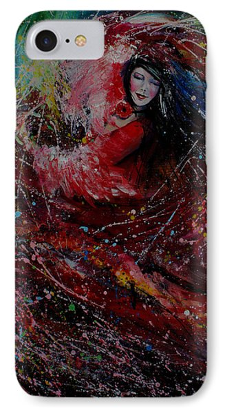 Dance With Colors IPhone Case by Isabel Salvador