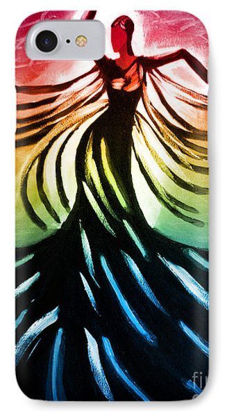 IPhone Case featuring the painting Dancer 3 by Anita Lewis