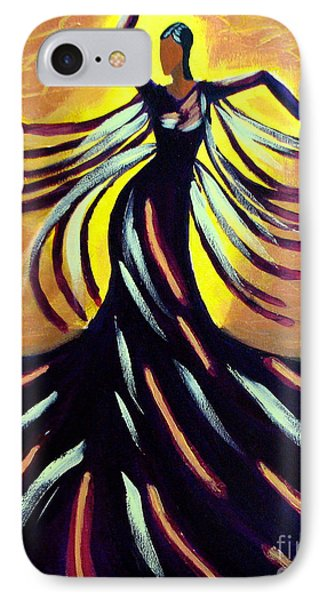 IPhone Case featuring the painting Dancer by Anita Lewis