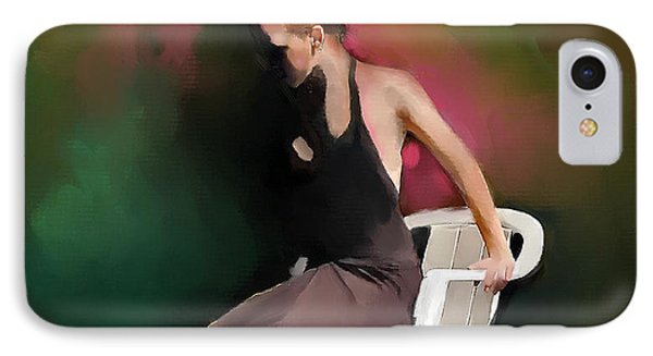 Dancer At Rest IPhone Case by Ted Azriel