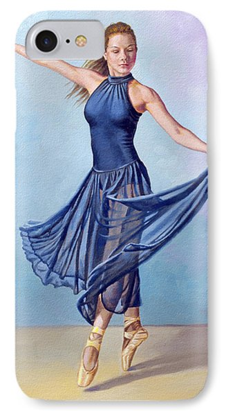 Dancer In Dark Blue IPhone Case by Paul Krapf