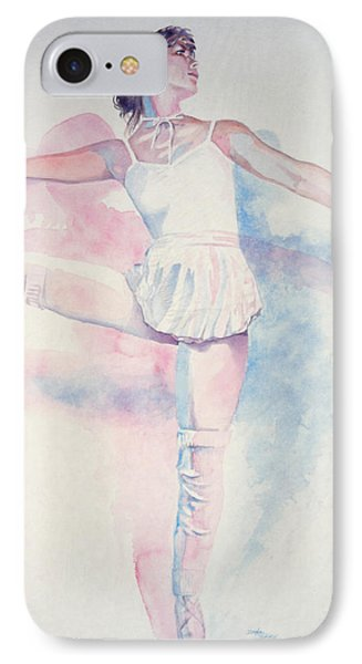 Dancer In Shades Of White Phone Case by Dan Terry