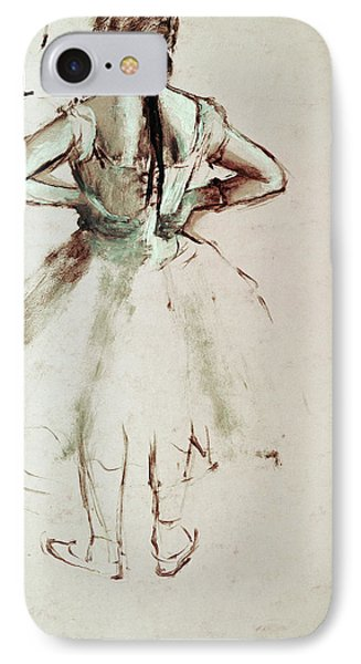 Dancer Viewed From The Back IPhone Case by Edgar Degas