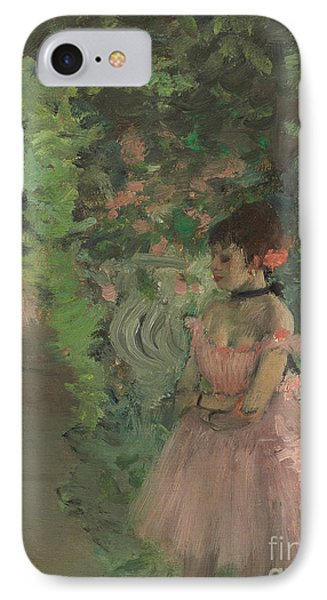 Dancers Backstage IPhone Case by Edgar Degas