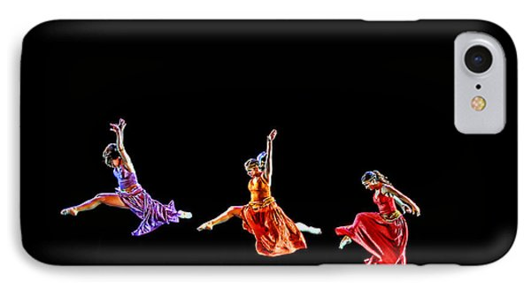 IPhone Case featuring the photograph Dancers In Flight by Bill Howard