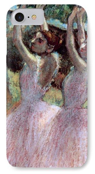 Dancers In Violet Dresses IPhone Case by Edgar Degas