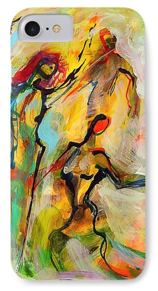 IPhone Case featuring the painting Dancers by Mary Schiros