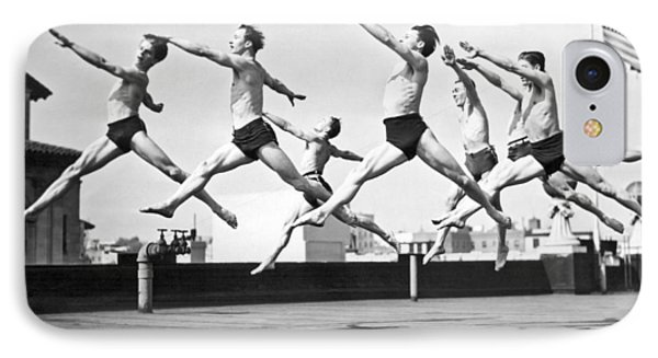 Dancers Practice On A Rooftop. IPhone Case by Underwood Archives