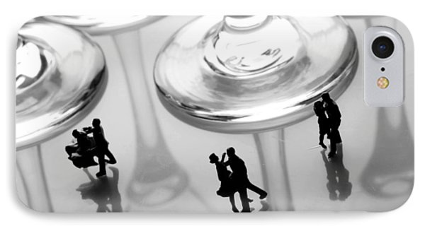 Dancing Among Glass Cups Phone Case by Paul Ge