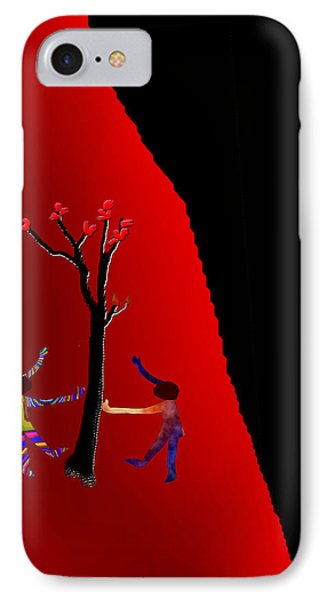 IPhone Case featuring the digital art Dancing Around A Tree by Asok Mukhopadhyay