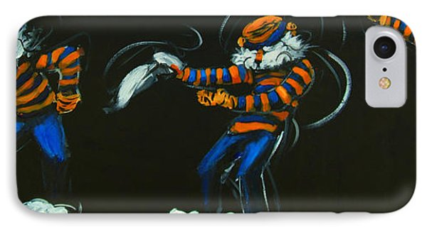Dancing Aubie IPhone Case by Carole Foret