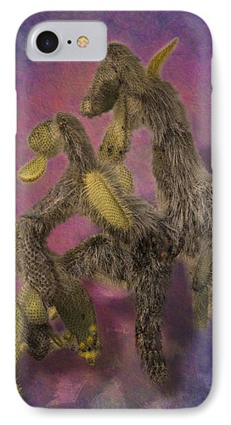 Dancing Cactus Pair In Galapagos Islands Phone Case by Angela A Stanton