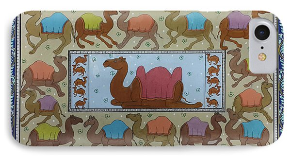 Dancing Camels IPhone Case by Art Tantra