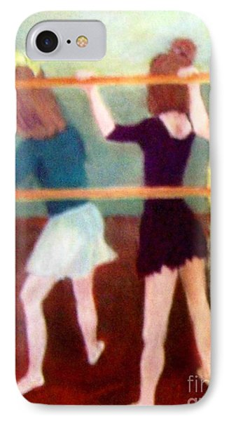 IPhone Case featuring the painting Dancing Class by Mary Lynne Powers