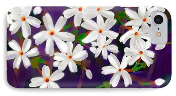 IPhone Case featuring the digital art Dancing Coral Jasmines by Latha Gokuldas Panicker