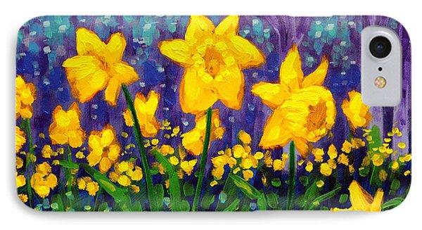 Dancing Daffodils    Cropped Phone Case by John  Nolan
