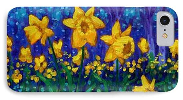 Dancing Daffodils  IPhone Case by John  Nolan
