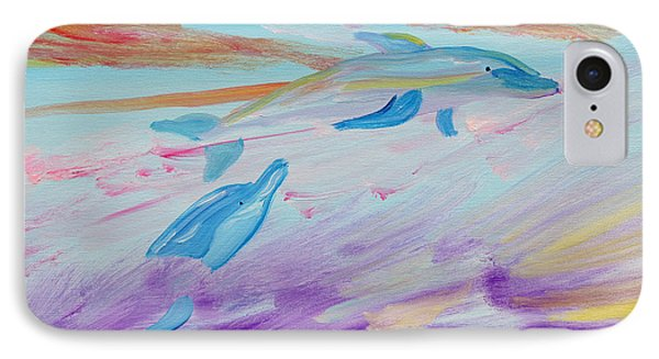 Dancing Dolphins IPhone Case by Meryl Goudey