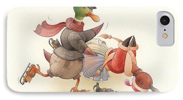 Dancing Ducks 03 Phone Case by Kestutis Kasparavicius