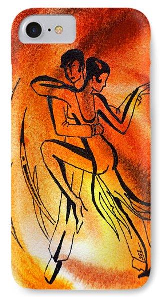 Dancing Fire Iv Phone Case by Irina Sztukowski