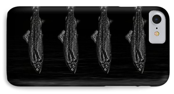 Dancing Fish At Night 1 IPhone Case by Evgeniy Lankin