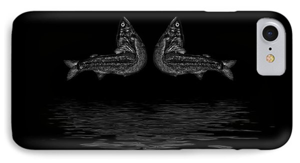 Dancing Fish At Night 2 IPhone Case by Evgeniy Lankin