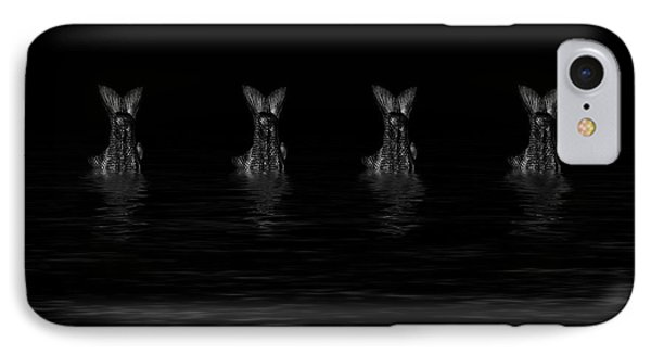 Dancing Fish At Night 5 IPhone Case by Evgeniy Lankin