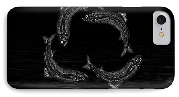 Dancing Fish At Night 7 IPhone Case by Evgeniy Lankin