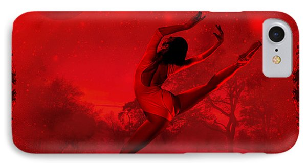 IPhone Case featuring the digital art Dancing For The Moon - Fantasy Art By Giada Rossi by Giada Rossi