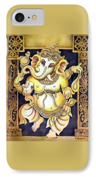Dancing Ganesh Phone Case by Vishwajyoti Mohrhoff