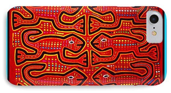 IPhone Case featuring the digital art Dancing Geckos by Vagabond Folk Art - Virginia Vivier