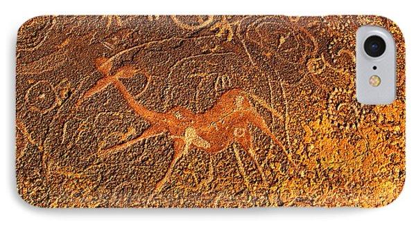IPhone Case featuring the digital art Dancing Giraffe by Asok Mukhopadhyay
