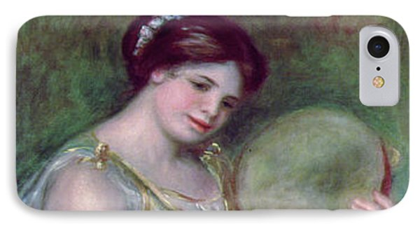 Dancing Girl With Tambourine IPhone Case by Pierre Auguste Renoir