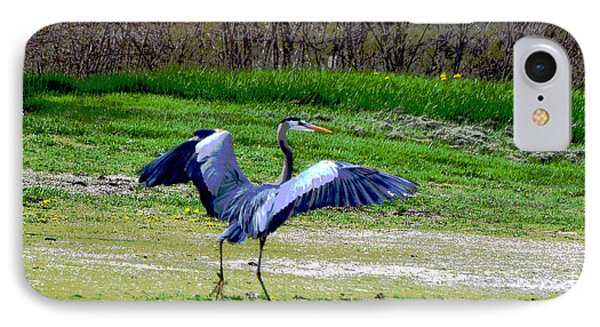 Dancing Heron IPhone Case