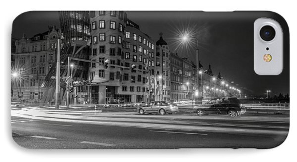 Dancing House  B-w IPhone Case by Sergey Simanovsky