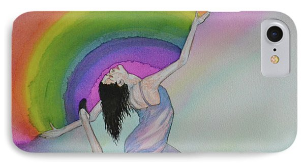 Dancing In Rainbows IPhone Case by Suzette Kallen