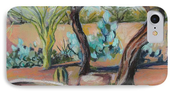 Dancing Mesquite Trees IPhone Case by Linda Novick