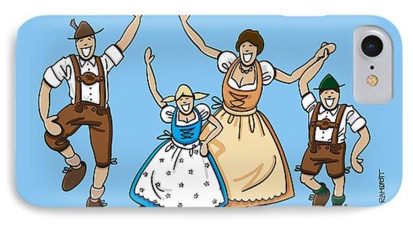 Dancing Oktoberfest Family IPhone Case by Frank Ramspott