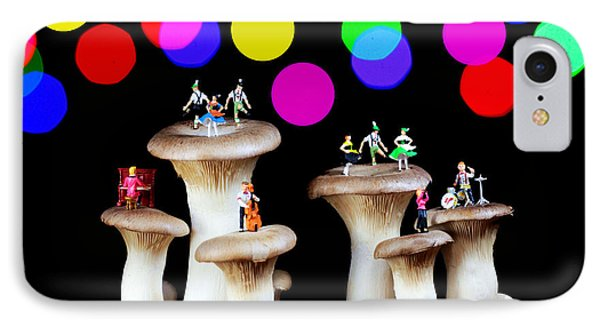 Dancing On Mushroom Under Starry Night IPhone Case by Paul Ge