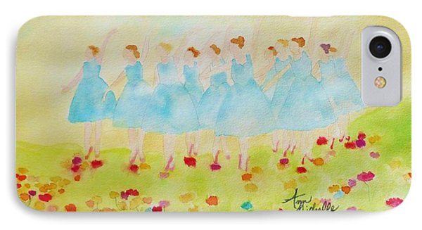 Dancing On Top Of The Flowers IPhone Case by Ann Michelle Swadener