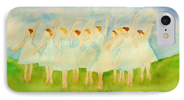 Dancing On Top Of The Grass IPhone Case by Ann Michelle Swadener