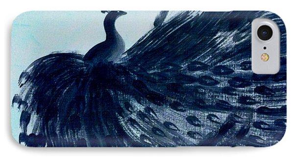 IPhone Case featuring the digital art Dancing Peacock Aqua by Anita Lewis