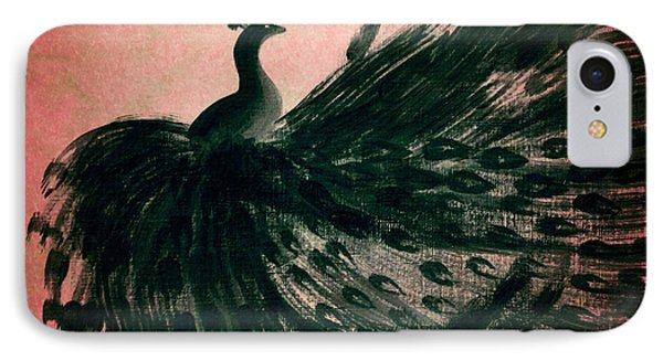IPhone Case featuring the digital art Dancing Peacock Pink by Anita Lewis