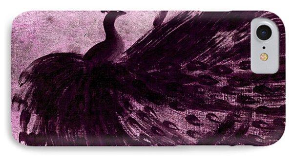 Dancing Peacock Plum IPhone Case by Anita Lewis