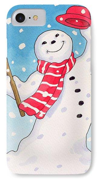 Dancing Snowman Phone Case by Lavinia Hamer