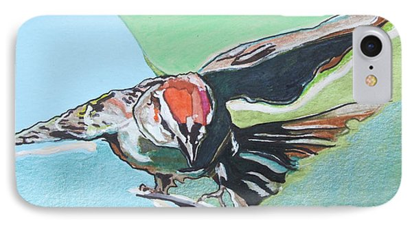 Dancing Sparrow IPhone Case by Jamie Downs