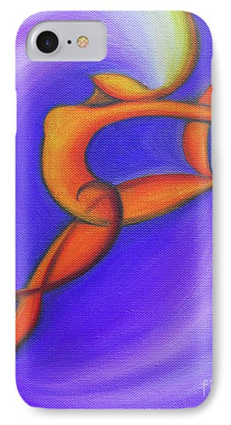 Dancing Sprite In Purple And Orange IPhone Case by Tiffany Davis-Rustam