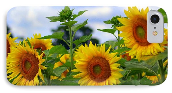 Dancing Sunflowers Phone Case by Kathleen Struckle